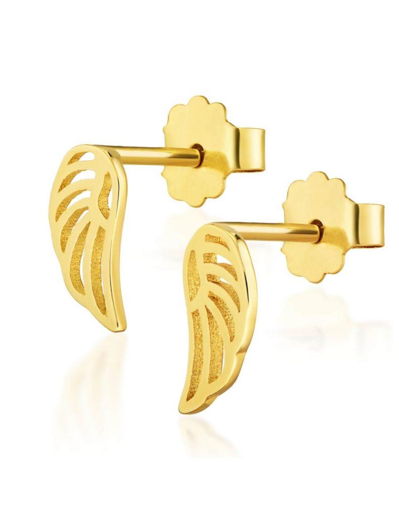sklep jubilerski - złote kolczyki